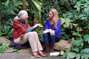 Karen Soeters interviewt Jane Goodall
